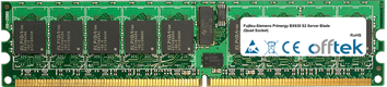 Primergy BX630 S2 Server Blade (Quad Socket) 8GB Satz (2x4GB Module) - 240 Pin 1.8v DDR2 PC2-5300 ECC Registered Dimm (Dual Rank)