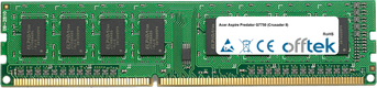 Aspire Predator G7750 (Crusader II) 2GB Modul - 240 Pin 1.5v DDR3 PC3-10664 Non-ECC Dimm