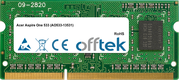 Aspire One 533 (AO533-13531) 2GB Modul - 204 Pin 1.5v DDR3 PC3-8500 SoDimm (128x8)