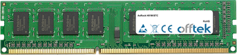 H81M BTC 8GB Modul - 240 Pin 1.5v DDR3 PC3-12800 Non-ECC Dimm