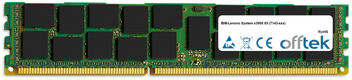 System X3950 X5 (7143-xxx) 32GB Modul - 240 Pin 1.5v DDR3 PC3-12800 ECC Registered Dimm