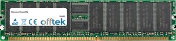 Roswell X2 1GB Modul - 184 Pin 2.5v DDR400 ECC Registered Dimm (Dual Rank)
