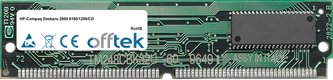 Deskpro 2000 6180/1200/CD 16MB Satz (2x8MB Module) - 72 Pin 5v EDO Non-Parity Simm