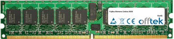 Celsius X630 2GB Satz (2x1GB Module) - 240 Pin 1.8v DDR2 PC2-3200 ECC Registered Dimm (Single Rank)