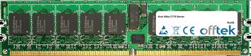 Altos C710 Server 4GB Satz (2x2GB Module) - 240 Pin 1.8v DDR2 PC2-3200 ECC Registered Dimm (Single Rank)