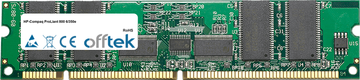 ProLiant 800 6/350e 256MB Modul - 168 Pin 3.3v PC100 ECC Registered SDRAM Dimm