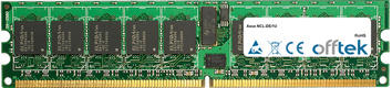 NCL-DE/1U 4GB Satz (2x2GB Module) - 240 Pin 1.8v DDR2 PC2-3200 ECC Registered Dimm (Single Rank)