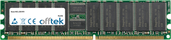 NCL-DS1R1 4GB Satz (2x2GB Module) - 184 Pin 2.5v DDR333 ECC Registered Dimm (Dual Rank)