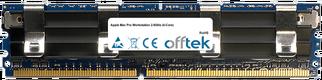 Mac Pro Workstation 2.8GHz (4-Core) 8GB Satz (2x4GB Module) - 240 Pin 1.8v DDR2 PC2-6400 ECC FB Dimm (Apple Approved)