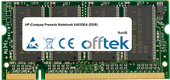 Presario Notebook V4035EA (DDR) 1GB Modul - 200 Pin 2.5v DDR PC333 SoDimm