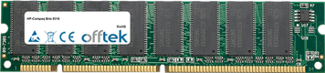 Brio 8316 64MB Modul - 168 Pin 3.3v PC100 SDRAM Dimm