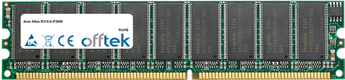 Altos R310-U-P3000 1GB Modul - 184 Pin 2.6v DDR400 ECC Dimm (Dual Rank)