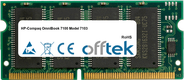 OmniBook 7100 Model 7103 128MB Modul - 144 Pin 3.3v PC66 SDRAM SoDimm