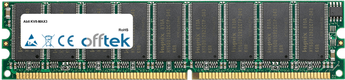 KV8-MAX3 512MB Modul - 184 Pin 2.6v DDR400 ECC Dimm (Single Rank)