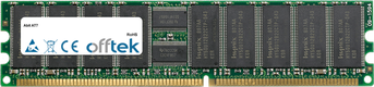 AT7 512MB Modul - 184 Pin 2.5v DDR333 ECC Registered Dimm (Single Rank)