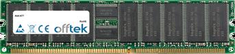 AT7 1GB Modul - 184 Pin 2.5v DDR333 ECC Registered Dimm (Dual Rank)