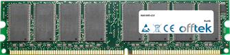 AX8 V2.0 1GB Modul - 184 Pin 2.6v DDR400 Non-ECC Dimm