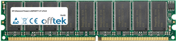 LANPARTY UT NF4-D 1GB Modul - 184 Pin 2.6v DDR400 ECC Dimm (Dual Rank)