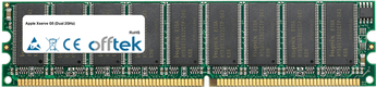Xserve G5 (Dual 2GHz) 1GB Satz (2x512MB Module) - 184 Pin 2.6v DDR400 ECC Dimm (Single Rank)