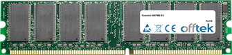 6497MB-ES 1GB Modul - 184 Pin 2.6v DDR400 Non-ECC Dimm