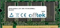 200 Pin SoDimm - 2.5V - DDR - PC2100 (266Mhz) - Non-ECC 128MB Modul