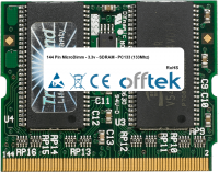 144 Pin MicroDimm - 3.3v - SDRAM - PC133 (133Mhz) 256MB Modul