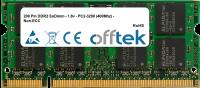200 Pin DDR2 SoDimm - 1.8v - PC2-3200 (400Mhz) - Non-ECC 256MB Modul