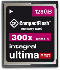 Integral Ultima-Pro Compact Flash 300X 128GB Karte