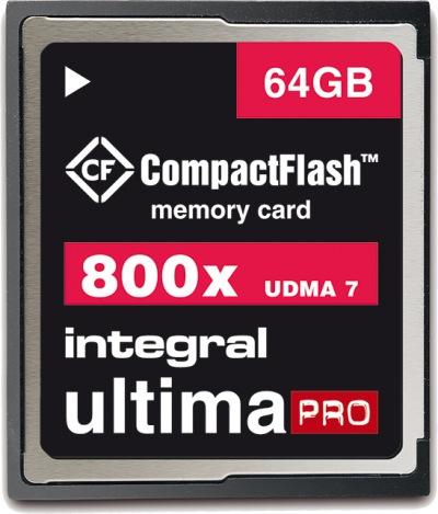 Integral Ultima-Pro Compact Flash 800X 64GB Karte