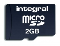 Integral Transflash/Micro SD Karte (Mit Adapter) 2GB Karte