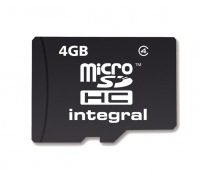 Integral Micro SDHC (Ohne Adapter) 4GB Karte (Class 4)
