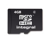 Integral Micro SDHC (Ohne Adapter) 4GB Karte (Class 4)