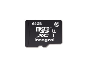 Integral Micro SDXC (Mit Adapter) 64GB Karte