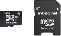 Integral Micro SDHC (Mit Adapter)  16GB Karte