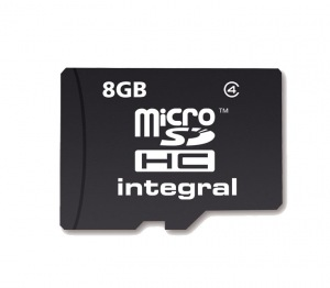 Integral Micro SDHC (Ohne Adapter) 8GB Karte (Class 4)