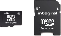 Integral Micro SDHC (Mit Adapter) 4GB Karte (Class 10)