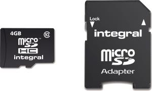 Integral Micro SDHC (Mit Adapter) (Class 10 - 20x) 4GB Karte (Class 10)