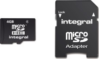 Integral Micro SDHC (Mit Adapter) (Class 4) 4GB Karte (Class 4)