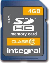 Integral SDHC Karte (Class 10) 4GB Karte (Class 10)