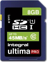 Integral SDHC 8GB Karte (Class 10 - 45MB/s)