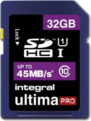 Integral SDHC 32GB Karte (Class 10 - 45MB/s)