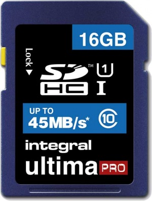 Integral SDHC 16GB Karte (Class10 - 45MB/s)