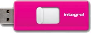 Integral Slide USB Laufwerk 8GB (Pink)