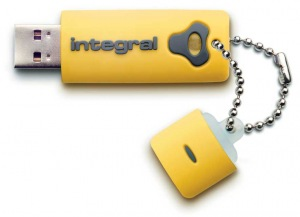 Integral Splash Laufwerk 8GB Laufwerk (Yellow)