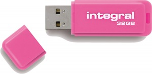 Integral Neon USB Laufwerk 32GB Laufwerk (Pink)