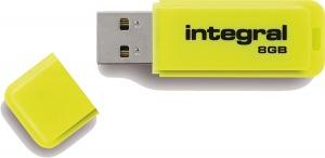 Integral Neon USB Laufwerk 8GB Laufwerk (Yellow)
