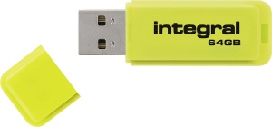 Integral Neon USB Laufwerk 64GB Laufwerk (Yellow)