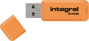 Integral Neon USB Laufwerk 64GB Laufwerk (Orange)