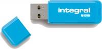 Integral Neon USB Laufwerk 8GB Laufwerk (Blue)