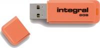 Integral Neon USB Laufwerk 8GB Laufwerk (Orange)